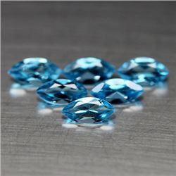 LOT OF 3.84 CTS SWISS BLUE BRAZILIAN TOPAZ