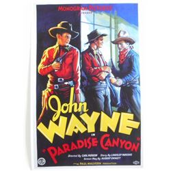 JOHN WAYNE IN PARADISE CANYON MOVIE POSTER PRINT