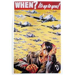 "BRITISH ""WHEN? ITS UP TO YOU"" MILITARY RECRUITMENT POSTER PRINT"
