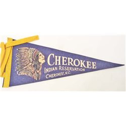 VINTAGE C. 1950-60S CHEROKEE INDIAN RESERVATION PENNANT