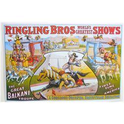 RINGLING BROS. BALKANI TROUPE CIRCUS POSTER PRINT
