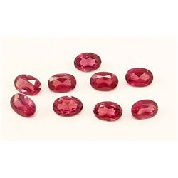 LOT OF 5.05 CTS OF RASPBERRY PINK AFRICAN GARNETS