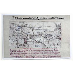CIVIL WAR MAP OF ANDERSONVILLE PRISON POSTER PRINT