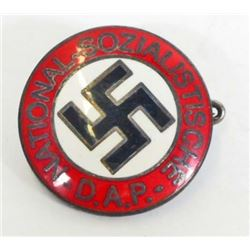 GERMAN NAZI NSDAP POLITICAL ENAMELED PARTY BADGE