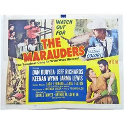 "1955 ""THE MARAUDERS"" HALF-SHEET WESTERN MOVIE POSTER"