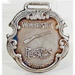 WINCHESTER RIFLE FIREARMS METAL WATCH FOB