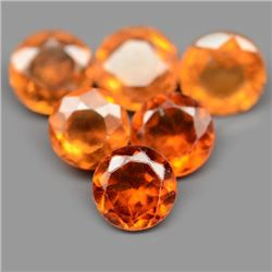 LOT OF 6.81 CTS OF ORANGE AFRICAN HESSONITE GARNETS