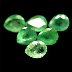 LOT OF 4.57 CTS OF GREEN ZAMBIAN EMERALDS