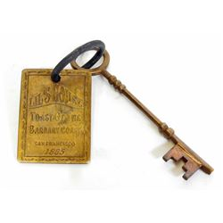 OLD WEST STYLE LIL'S HOUSE SAN FRANCISCO BROTHEL ROOM KEY