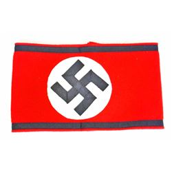 GERMAN NAZI WAFFEN SS SHULTZ STAFFEL OFFICER SWASTIKA ARM BAND