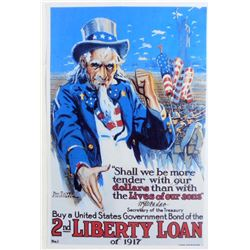 UNCLE SAM LIBERTY LOAN MILITARY POSTER PRINT