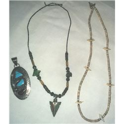 Collection 2 Heishi Necklaces and Pendant