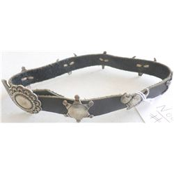 Sterling Silver and Leather Boot Band