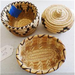 3 Papago Baskets