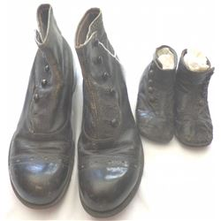 2 Pair Antique Button Type Shoes