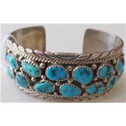 Navajo Sterling Silver & Turqouise Bracelet