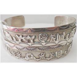 Two Navajo Sterling Silver Cuff Bracelets