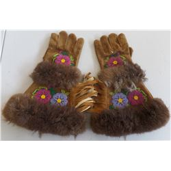 Cree Moose Hide Gloves