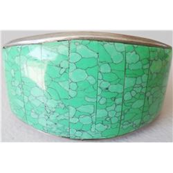 Sterling Silver & Turquoise Stone-to-Stone Cuff