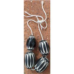 String of 4 Chevron Beads