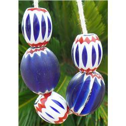 String of 5 Chevron Beads
