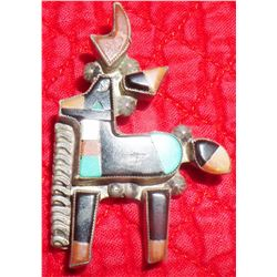 Sterling Silver Zuni Deer Pin