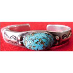 Sterling Silver and Navajo Bracelet