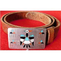 Zuni Belt Bucket with Western Tooled Belt
