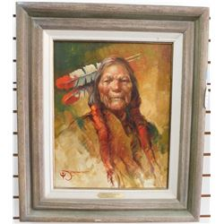 "Original Jack Jordan's ""Once a Warrior"" Original Oil Painting"