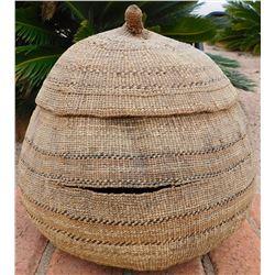 Large Lidded Hupa Tobacco Basket