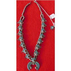 Childs Zuni Squash Blossom Necklace