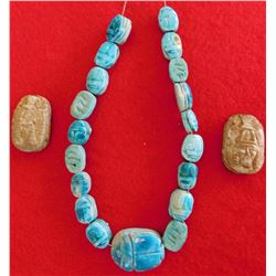 Group of 21 Egyptian Scarabs