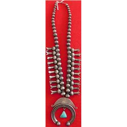Old-style Navajo Squash Blossom Necklace
