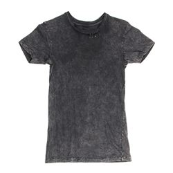Lisbeth Salander Hero Acid-Wash Black T-Shirt with Safety Pins from The Girl with the Dragon Tattoo