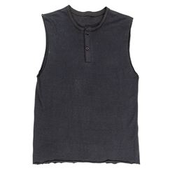 Lisbeth Salander Hero Black Cut-Off Sleeved Henley from The Girl with the Dragon Tattoo