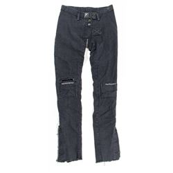 Lisbeth Salander Hero Custom Washed-Out Gray Denim Pants from The Girl with the Dragon Tattoo