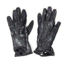 Lisbeth Salander Stunt Black Leather Gloves from The Girl with the Dragon Tattoo