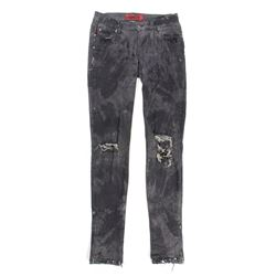 Lisbeth Salander Stunt Distressed Black Jeans from The Girl with the Dragon Tattoo