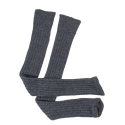 Lisbeth Salander Gray Knit Leg Warmers from The Girl with the Dragon Tattoo