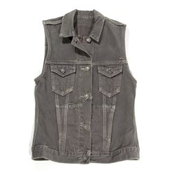 Lisbeth Salander Gray Denim Vest from The Girl with the Dragon Tattoo