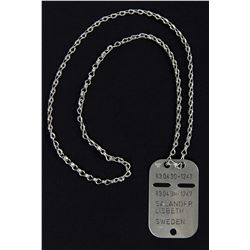 Lisbeth Salander Dog Tag Chain Necklace from The Girl with the Dragon Tattoo