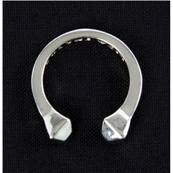 Lisbeth Salander Silver Faceted Stud Ring from The Girl with the Dragon Tattoo
