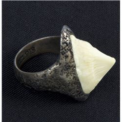 Lisbeth Salander Hero Silver Ring with Bali Shell from The Girl with the Dragon Tattoo