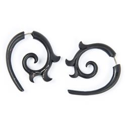 Lisbeth Salander Stunt Black Tribal Earrings from The Girl with the Dragon Tattoo