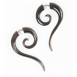 Lisbeth Salander Small Black Tribal Earrings from The Girl with the Dragon Tattoo