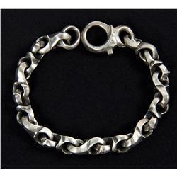 Lisbeth Salander Aged Silver Chunky Link Bracelet from The Girl with the Dragon Tattoo