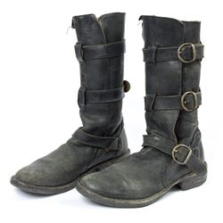 Lisbeth Salander Distressed Black Leather Boots from The Girl with the Dragon Tattoo