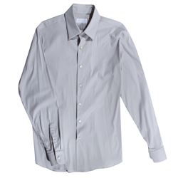 Mikael Blomkvist Hero Light Gray Collar Shirt from The Girl with the Dragon Tattoo