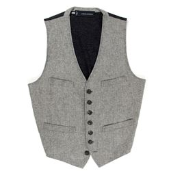 Mikael Blomkvist Herringbone Gray Vest from The Girl with the Dragon Tattoo