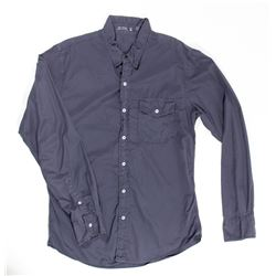 Mikael Blomkvist Blue Gray Long-Sleeved Collar Shirt from The Girl with the Dragon Tattoo
